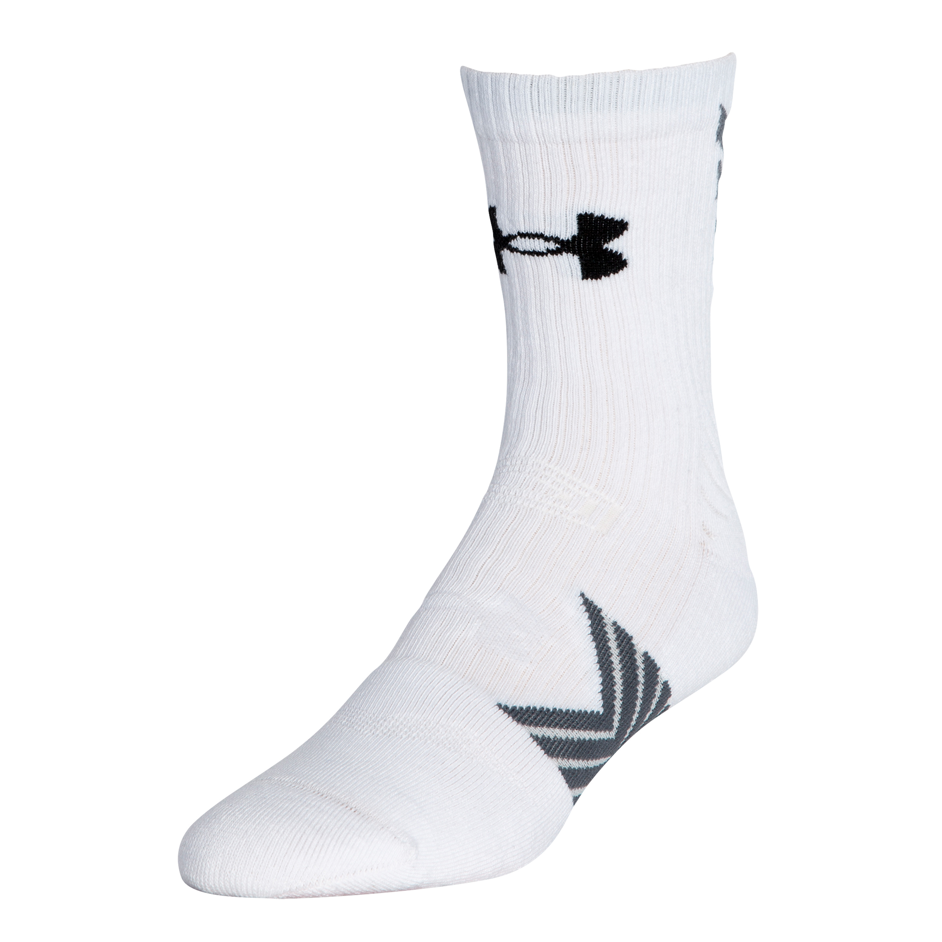Chaussettes Undeniable Mid Crew Under Armour blanches