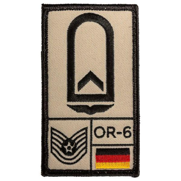 Café Viereck Patch Grade Feldwebel Armée de l'Air sable