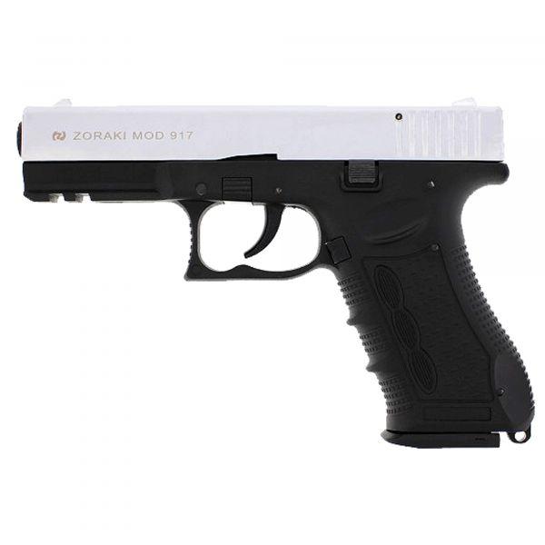 Zoraki Pistolet d'alarme 917 chrome mat