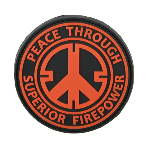 Patch 3D Peace Through Superior Firepower rouge