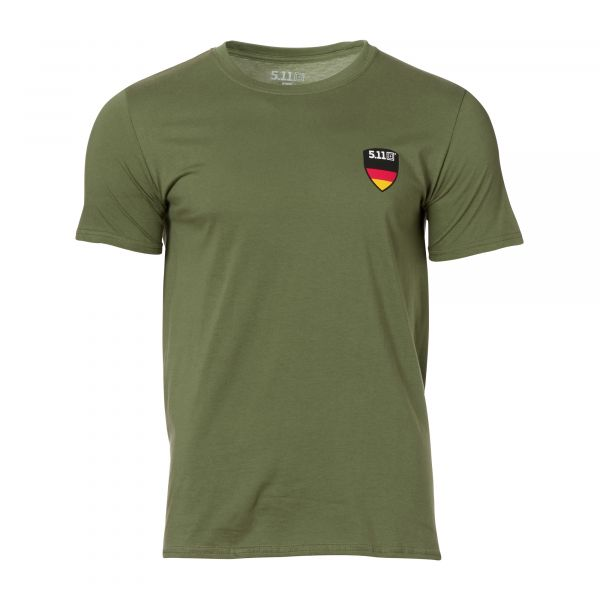 5.11 T-Shirt Flag Shield Allemagne military green