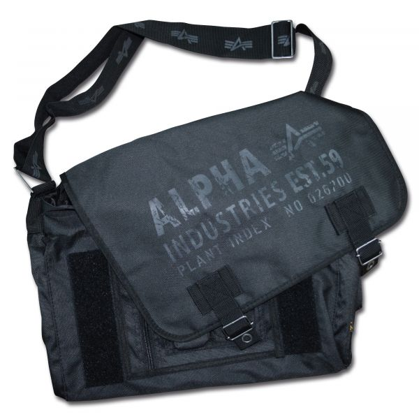 Sacoche Alpha Industries Cargo Oxford Courier Bag noir