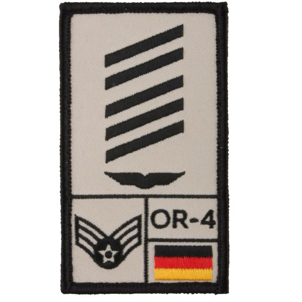Café Viereck Rank Patch OSG Luftwaffe sable