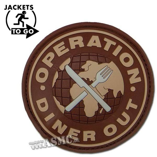 Patch 3D Operation Diner Out desert