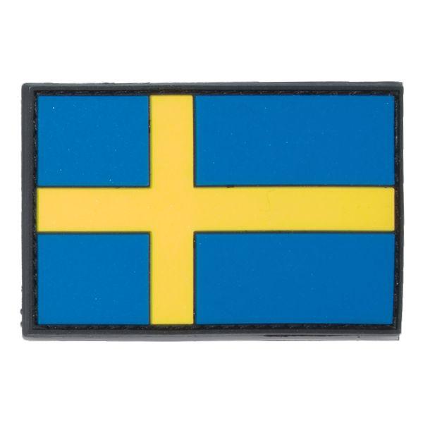 Patch 3D drapeau Suédois coloré