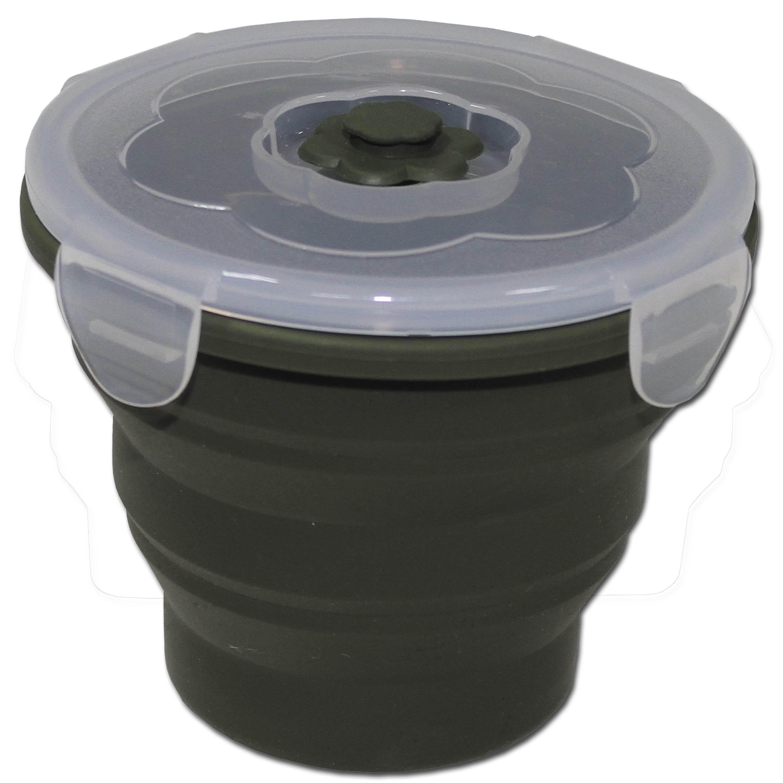 Boîte pour aliments MFH pliante 660 ml ronde olive