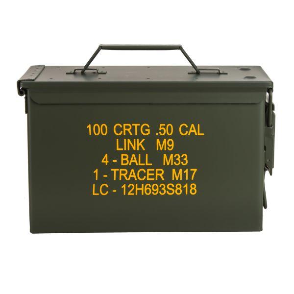 Boîte à munitions US M2A1 Cal. 50 mm Import olive