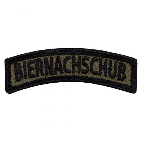 Café Viereck Patch Biernachschub TAB olive noir