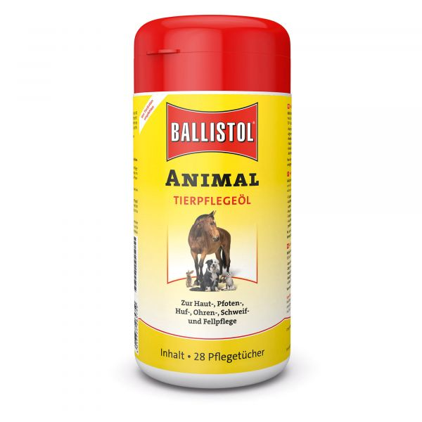 Ballistol Distributeur Animal avec 28 lingettes