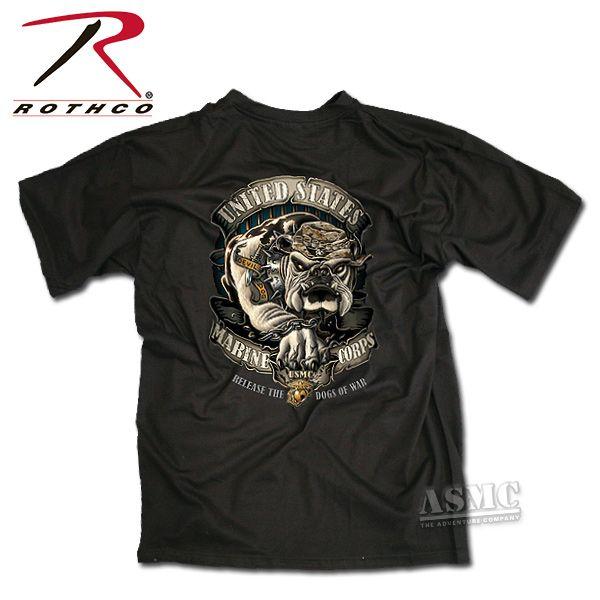 T-Shirt USMC Bulldog black