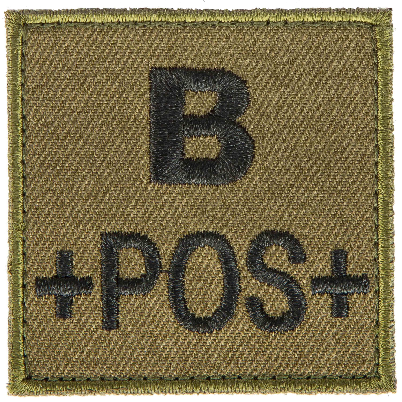 T.O.E Patch groupe sanguin B positif vert