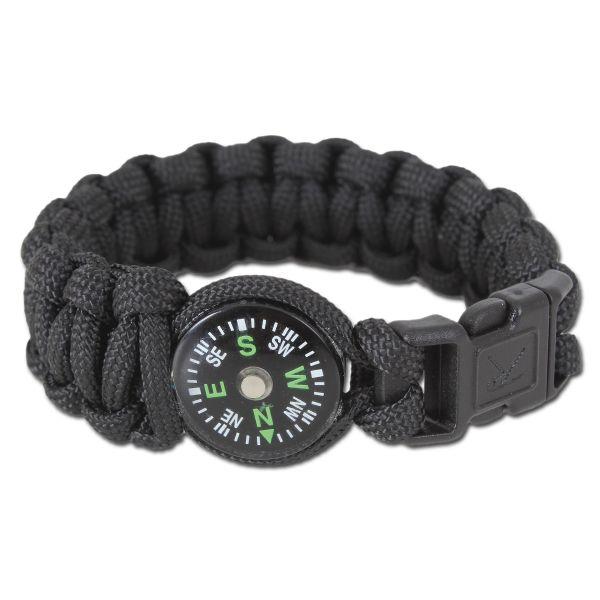 Bracelet Rothco W/Boussole noir