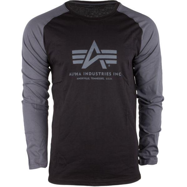 Alpha Industries Maillot manches longues Basic noir gris