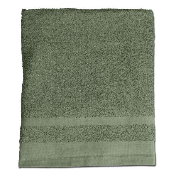 Serviette éponge olive 110 x 50 cm