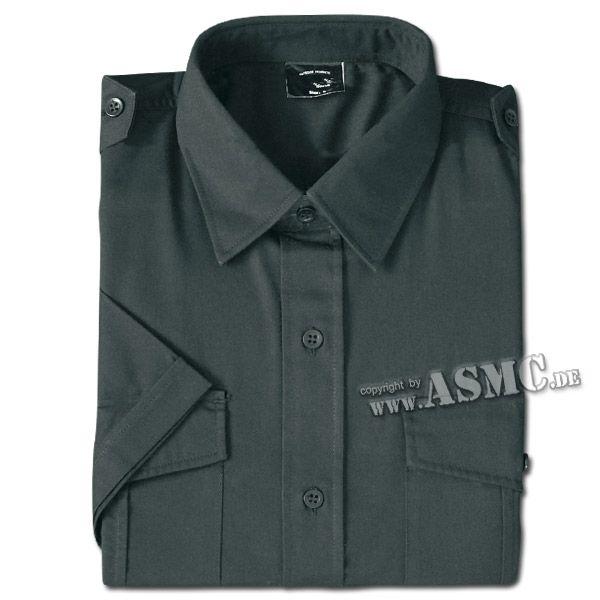 Chemise de service à manches courtes noire