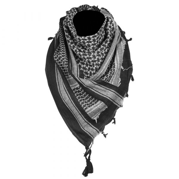 Mil-Tec Shemagh 110x110 cm noir blanc