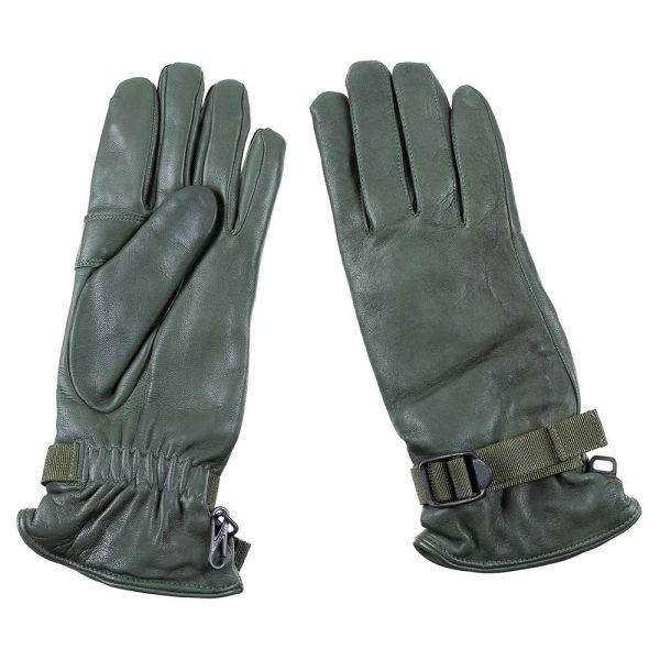Gants en cuir britanniques olive MK II Combat doublé occasion