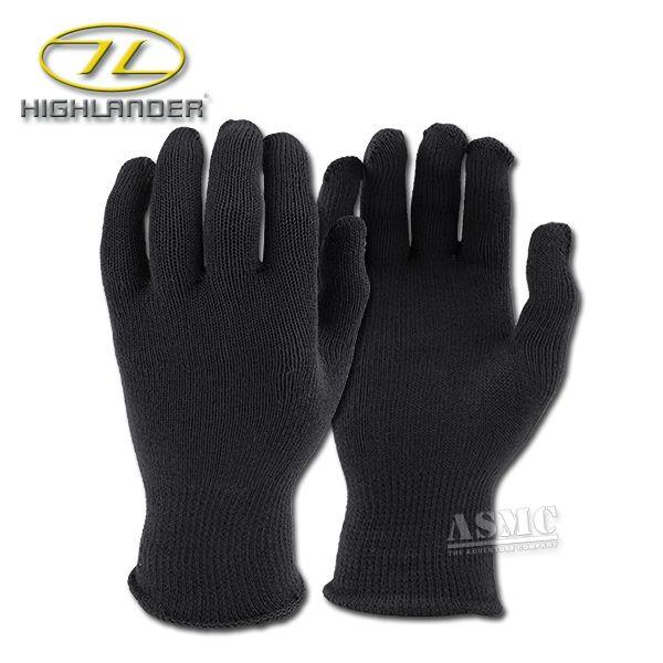 Gants thermiques Highlander noirs