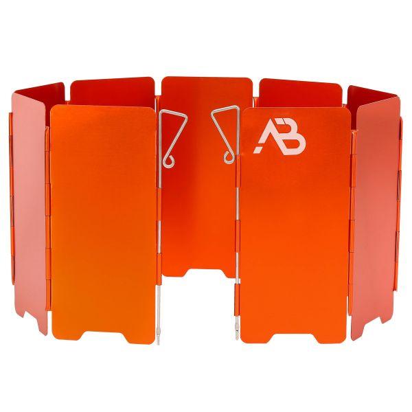 AB Pare-vent pour réchaud Alu pliable 9 parties orange