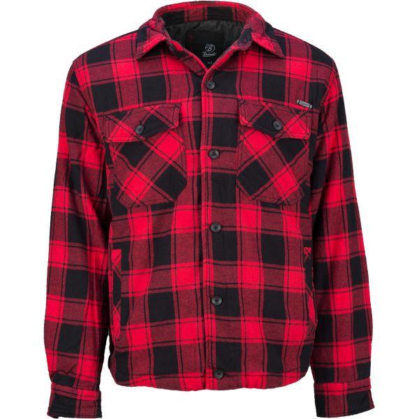 Brandit Chemise Lumberjacket rouge noir