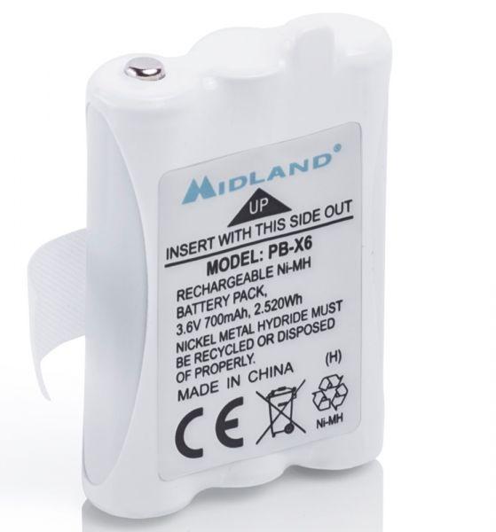 Midland Pack batterie PB-X6 pour XT50 et XT60 700 mAh