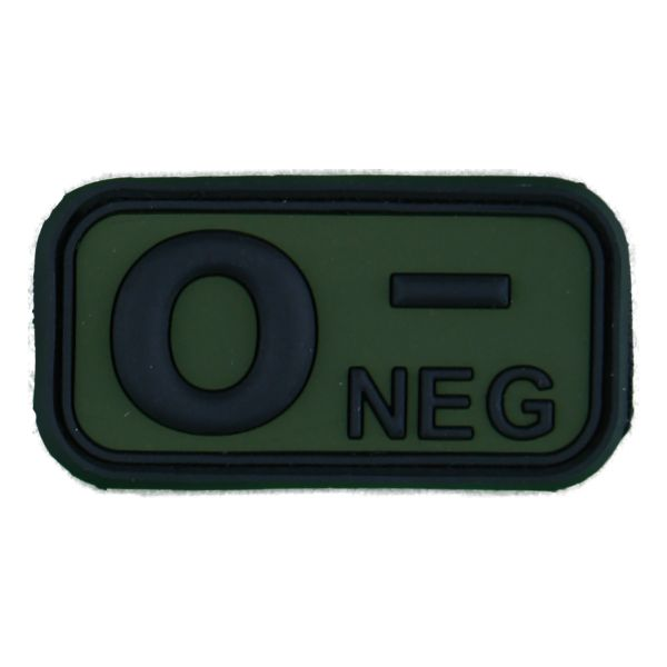 Patch groupe sanguin 3D 0 Neg noir-olive
