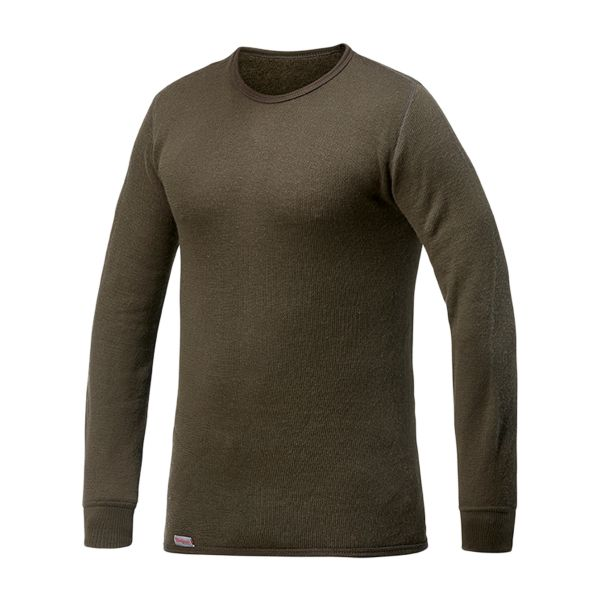 Woolpower Maillot Crewneck Manches longues 200 pine green
