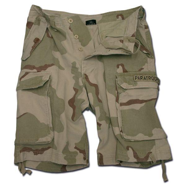 Shorts Mil-Tec Paratrooper prélavé desert