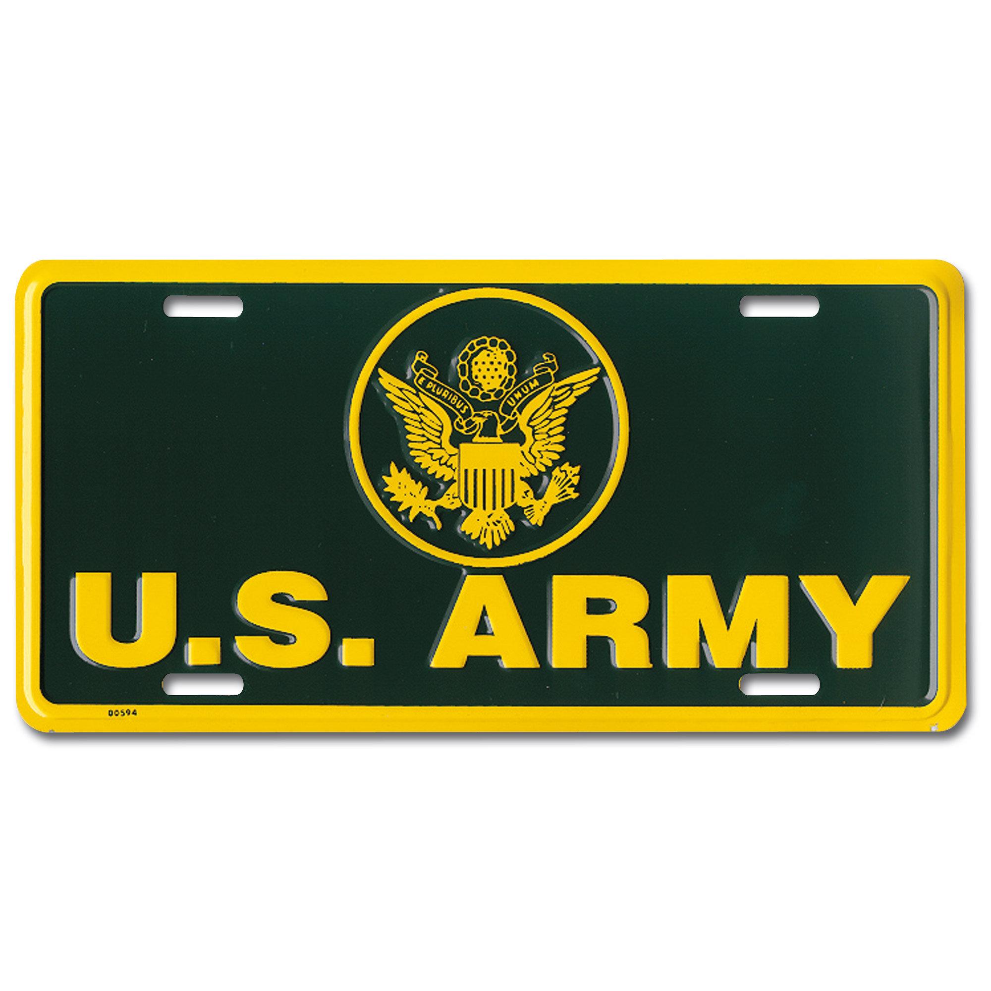 Plaque minéralogique US Army