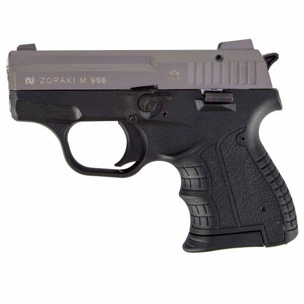 Zoraki Pistolet d'alarme 906 édition spéciale titane chrome