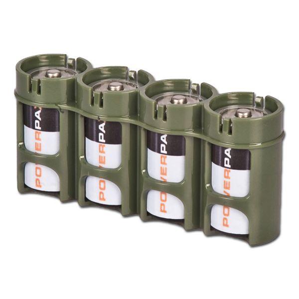 Porte batteries Powerpax 4 x C4 kaki
