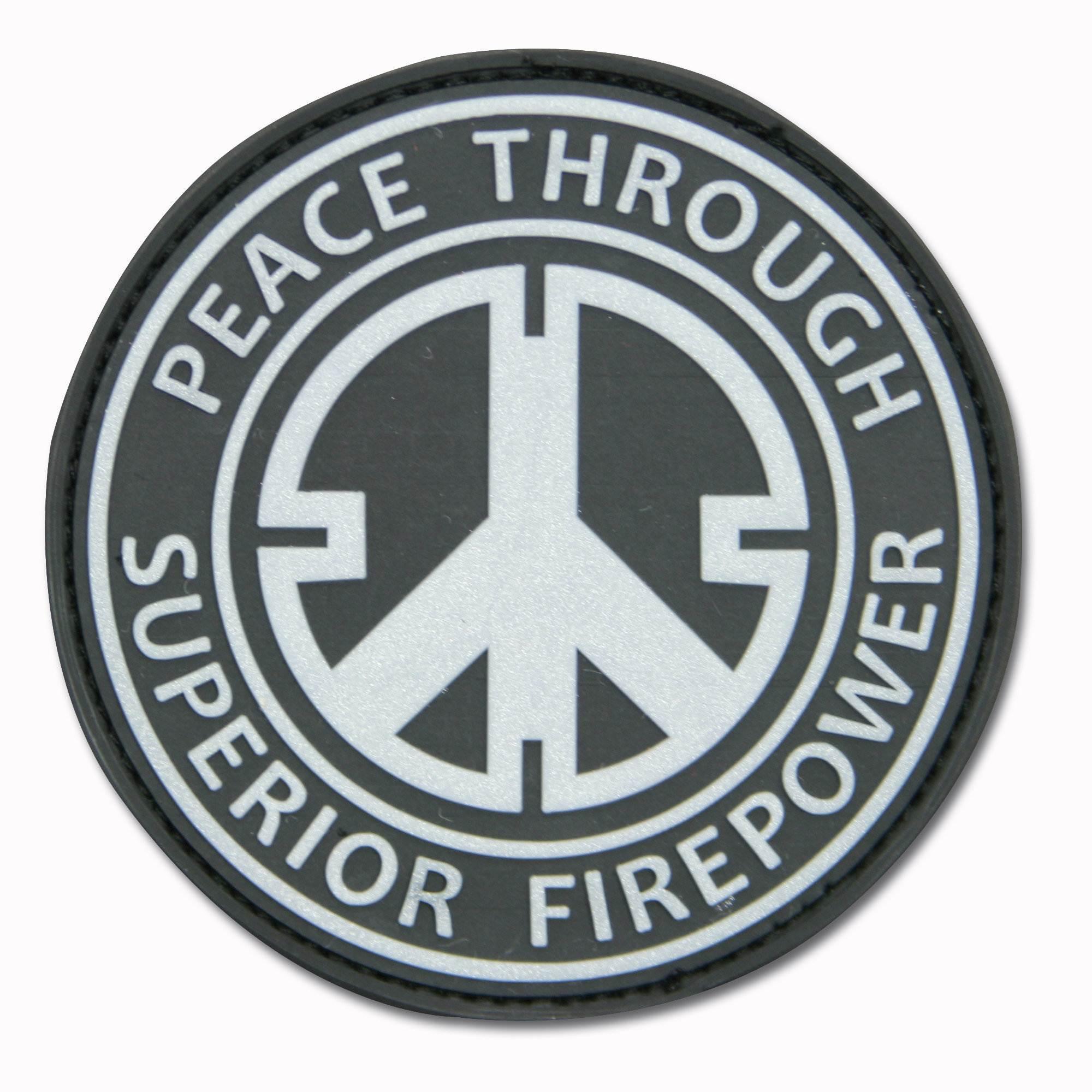 Patch 3D Peace Through Superior Firepower noir
