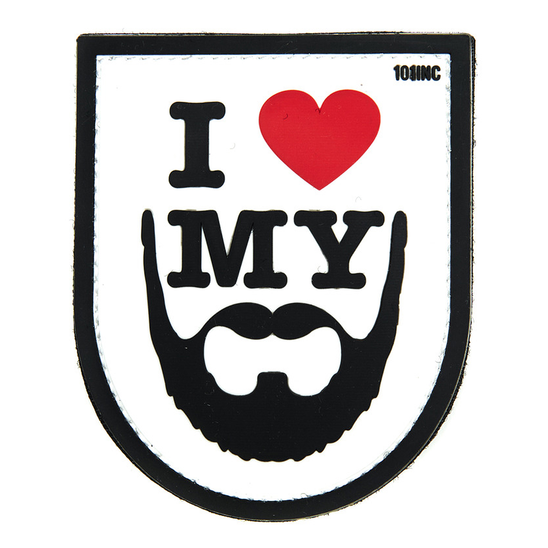 Patch 3D I love my Beard blanc