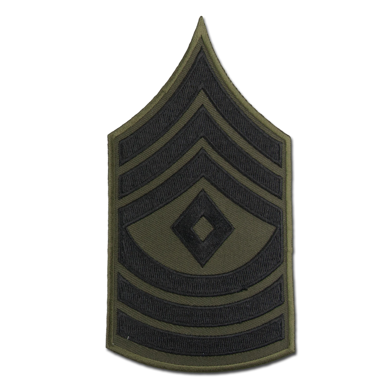 Grade US First Sergeant tissu noir
