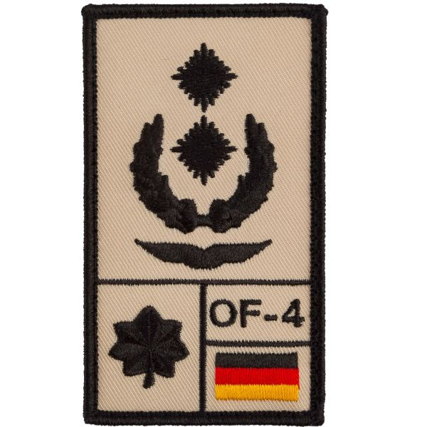 Café Viereck Patch Grade Oberstleutnant Luftwaffe sable