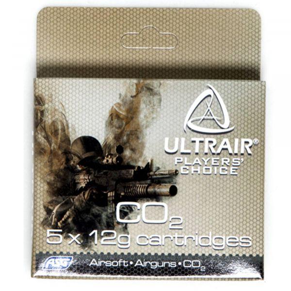 ASG Cartouches Co² Ultrair 12 g Co2 Cartridge 5 pièces