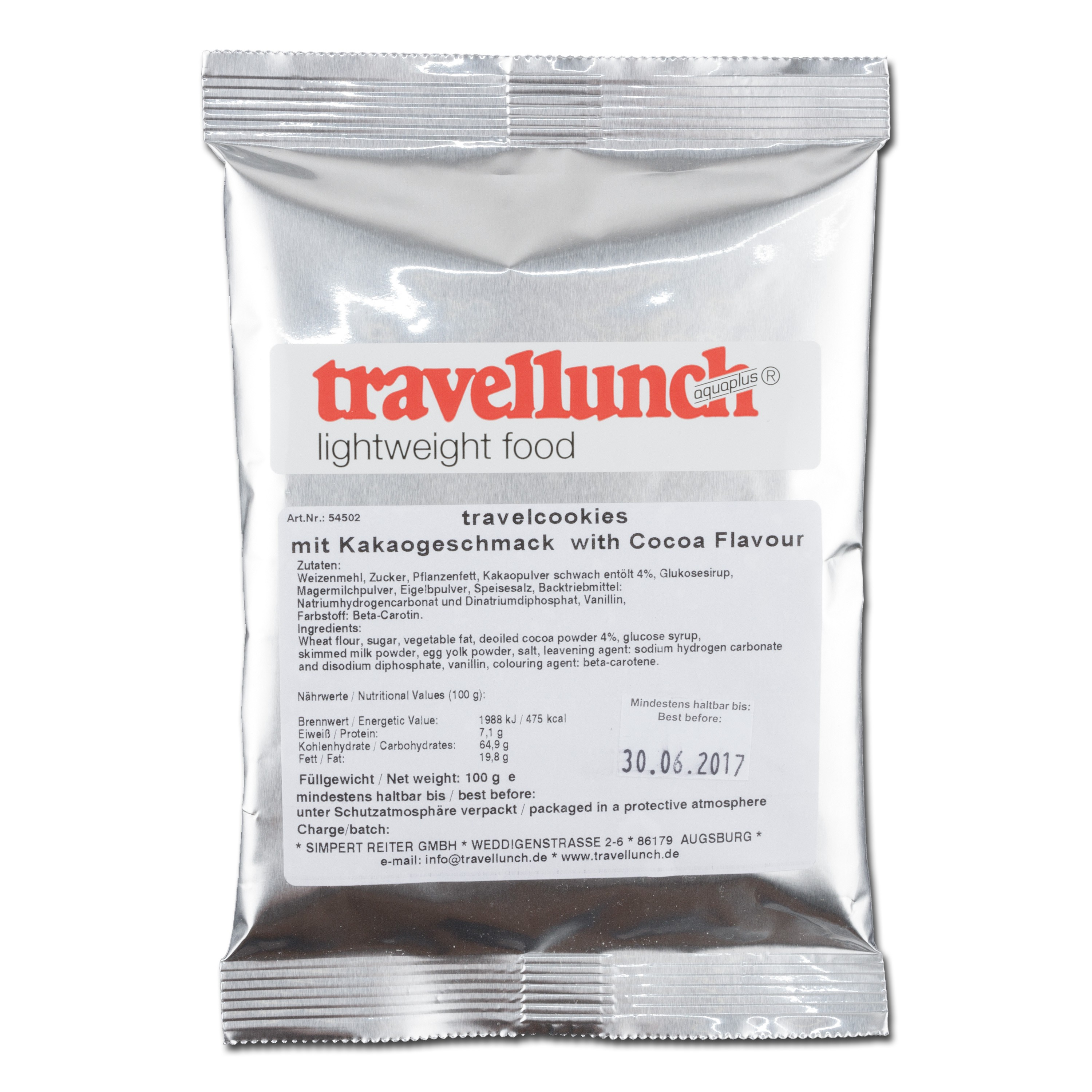Travellunch Travelcookies arôme cacao