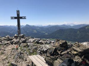 Bergsteigen und Wanderung