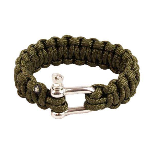 Highlander Bracelet Paracorde fermoir en métal olive