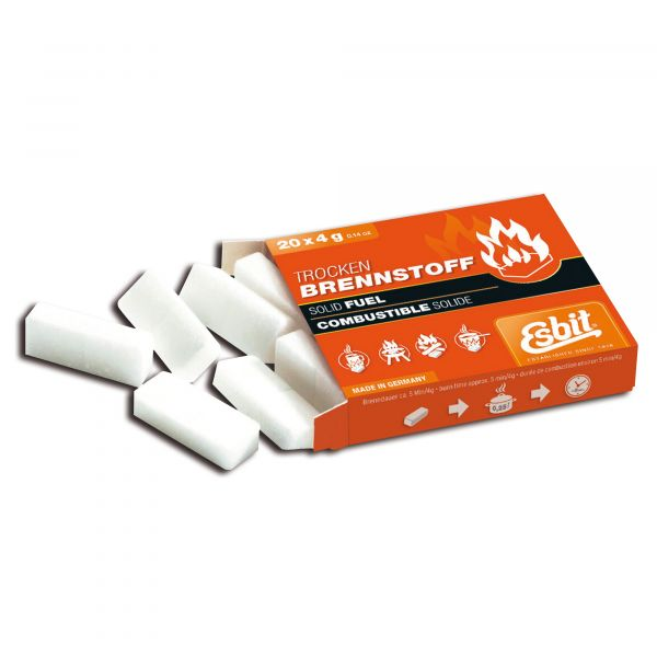 Esbit Comprimé de combustible solide 20 x 4 g