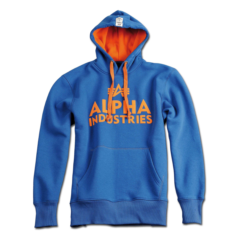 Sweat à capuche Foam Print Alpha Industries bleu