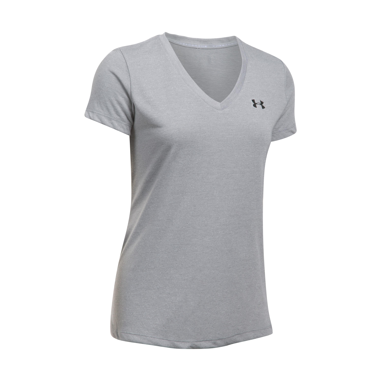 Under Armour T-Shirt Femmes Threadborne Train Twist gris