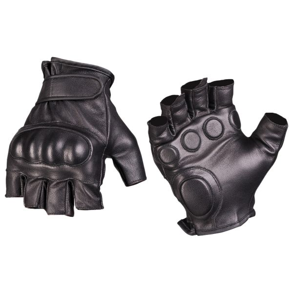 Mitaines Tactical cuir noires