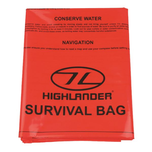 Highlander sac de secours orange