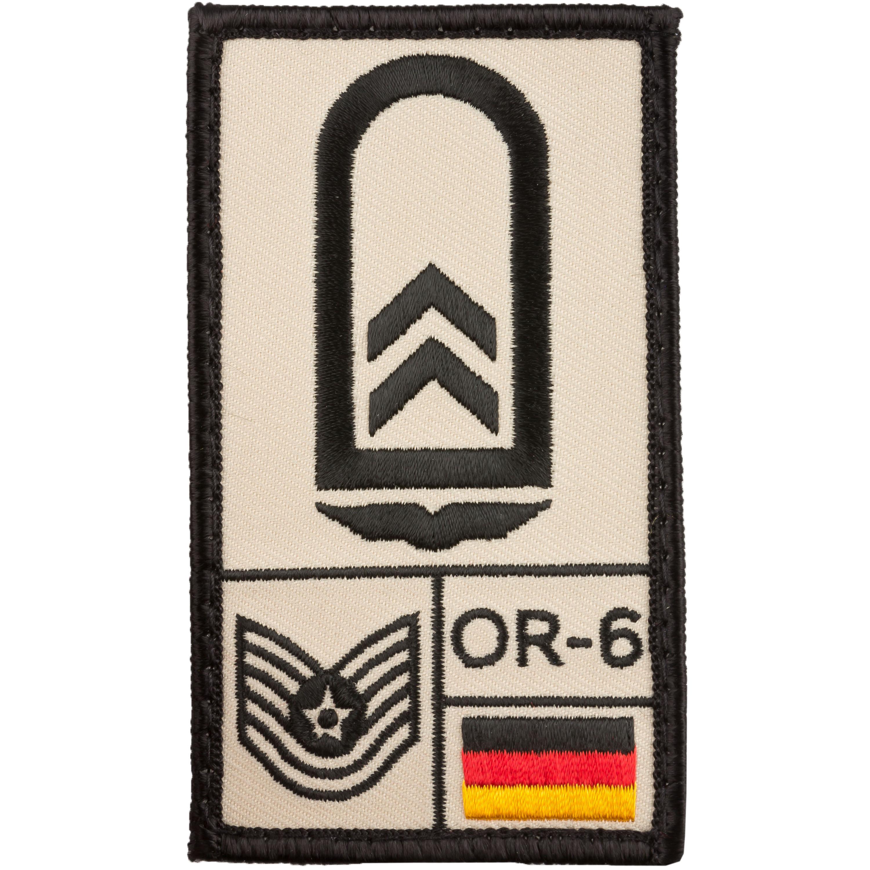 Café Viereck Patch Grade Oberfeldwebel Armée de l'Air sable