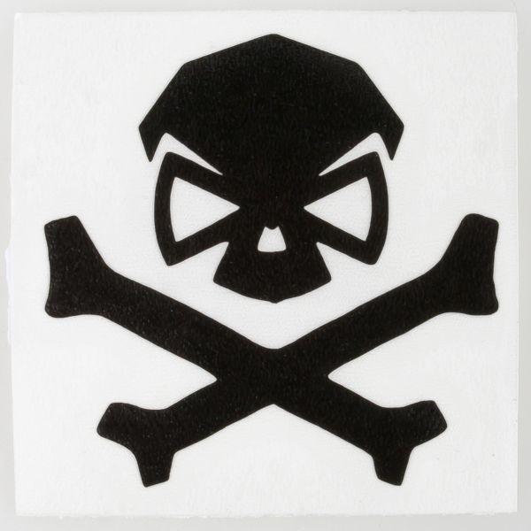 Pipe Hitters Union Autocollant Skull & Bones moyen noir