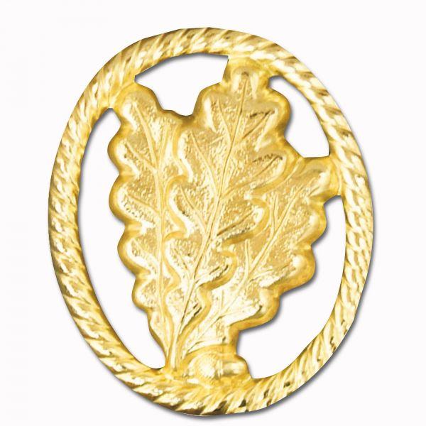 Insigne de béret Jäger sans drapeau or
