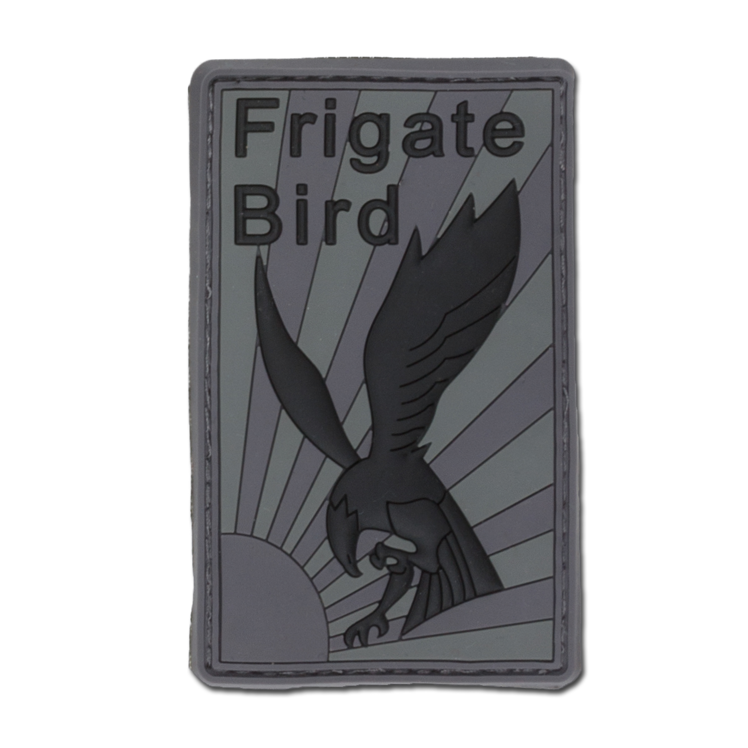 Patch 3D Frigate Bird gris/noir