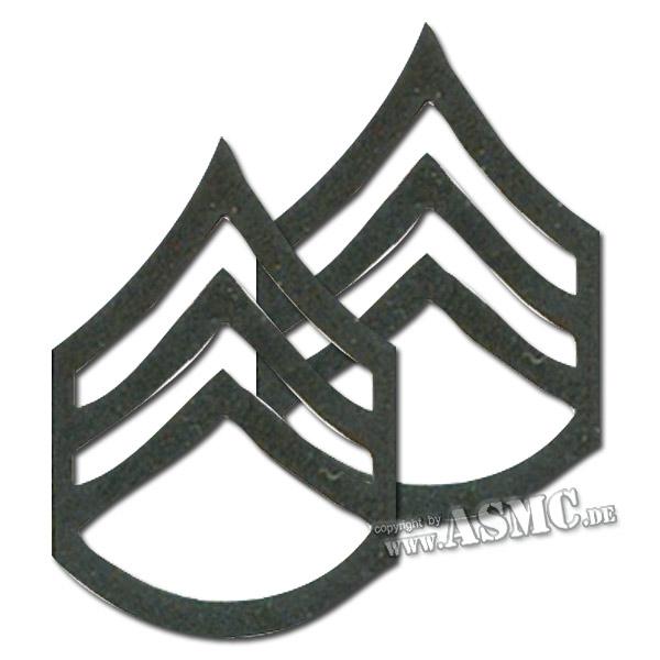 Grade US métallique Staff Sergeant subdued