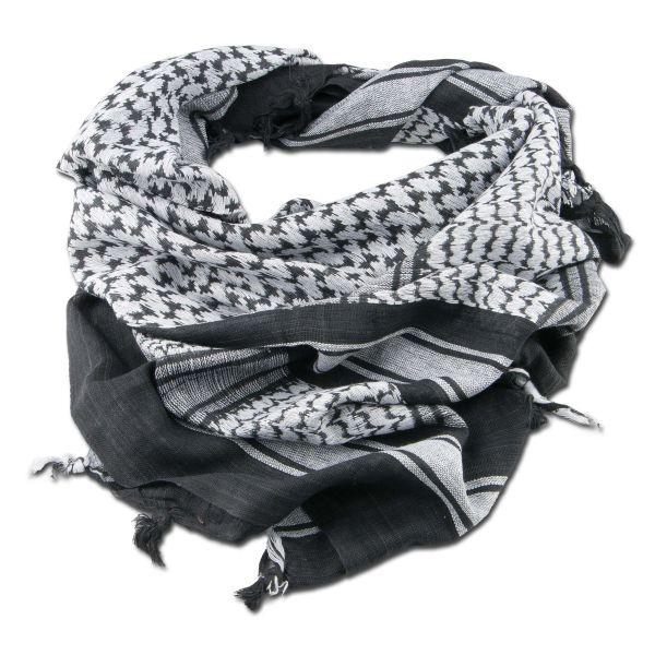 Écharpe 'Shemagh' noire /blanche 110 x 110 cm
